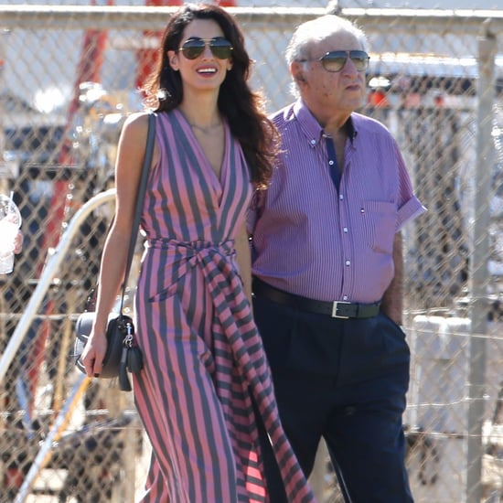 Amal Clooney Tome Jumpsuit in LA October 2016