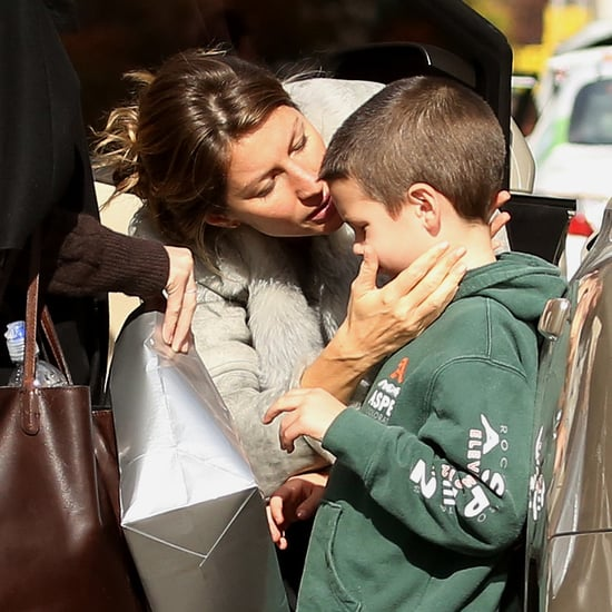 Gisele Bundchen Kissing Son Jack