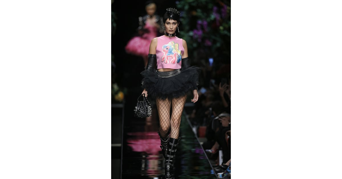 Bella Popped Up On The Moschino Runway In A Faux Pixie Hairstyle And