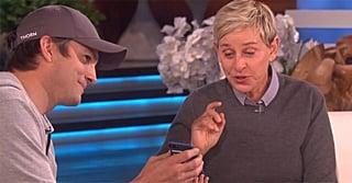 Watch Ellen Get Choked Up by Ashton Kutcher's Heartfelt Surprise