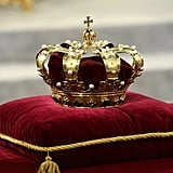 The crown sat at the credence table prior to the inauguration of King Willem-Alexander.