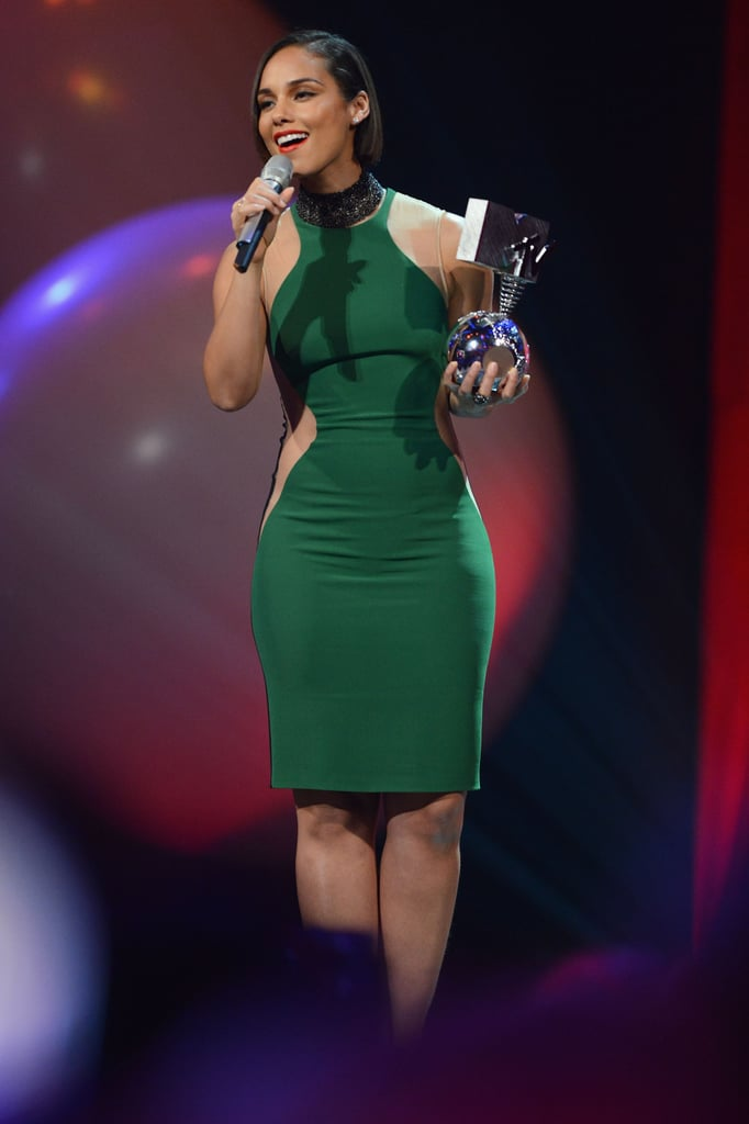 Alicia Keys was on stage at the awards.
