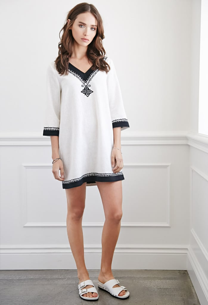 FOREVER 21 Diamond Embroidered Mini Dress