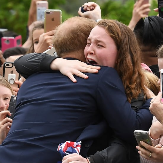 Prince Harry Hugs Sobbing Young Woman Australia 2018