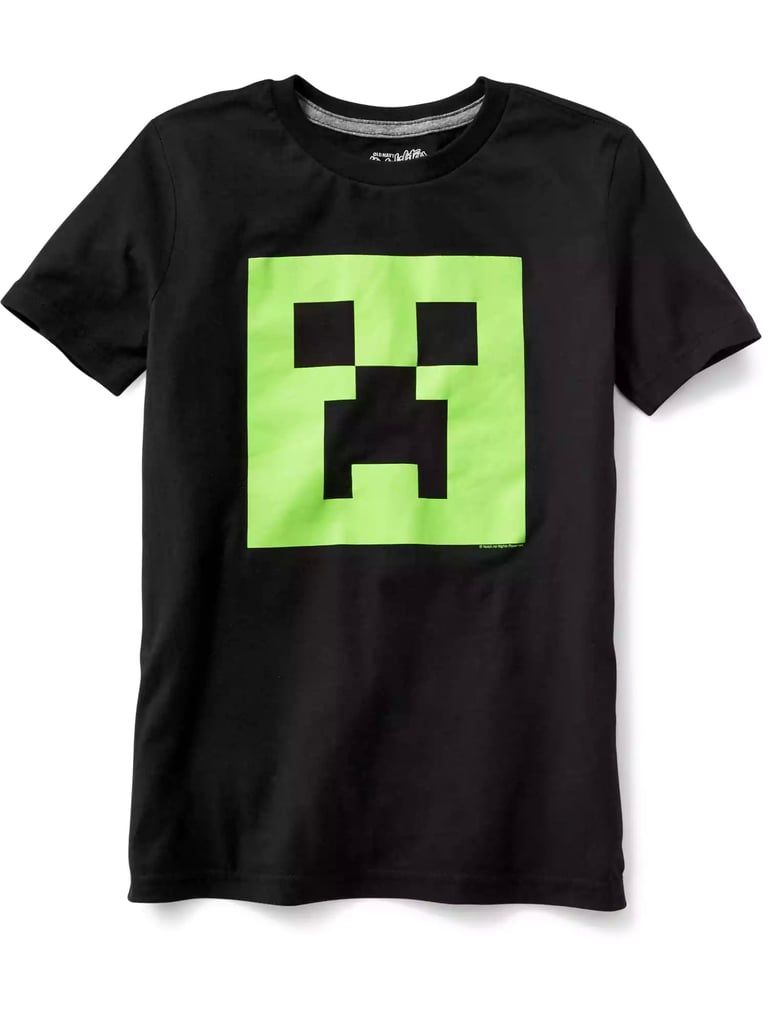 Old Navy Minecraft Creeper Tee
