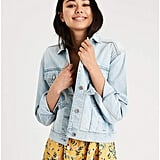 American Eagle Classic Light Wash Denim Jacket