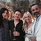 Zanna Rassi shared a photo with her husband, Mazdack, as well and Liv Tyler and Dave Gardner.