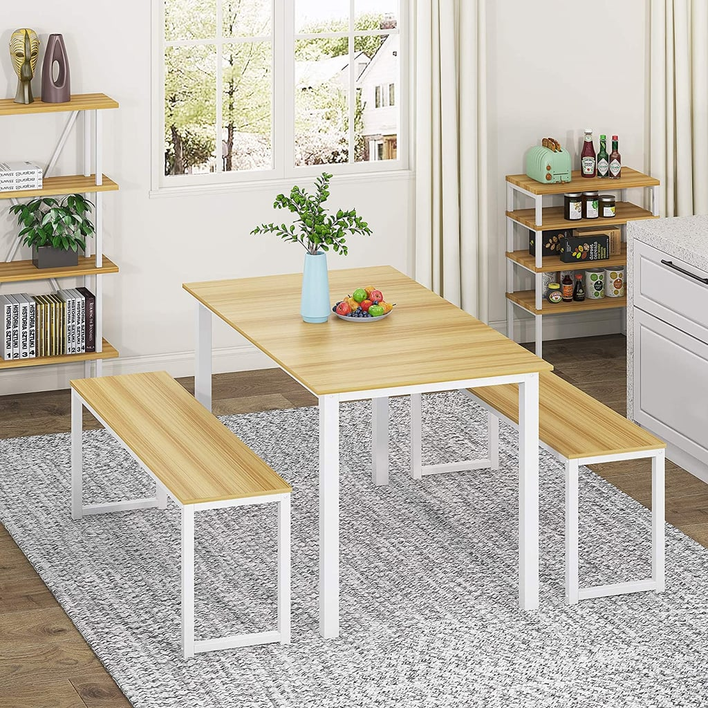 For a Sturdy and Durable Piece: Homury 3-Piece Dining Table Set