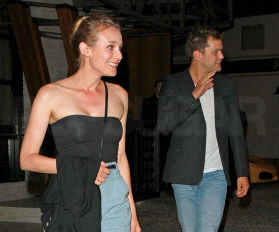 Slide Picture of Joshua Jackson and Diane Kruger Eating Out in LA