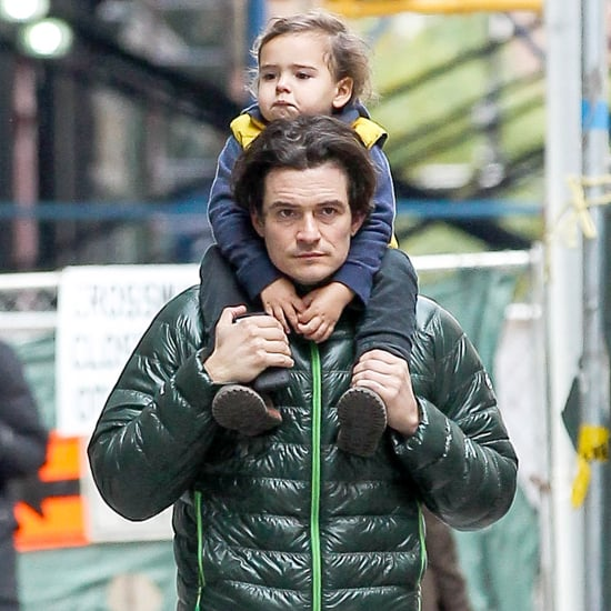 Orlando Bloom Carrying Flynn in NYC