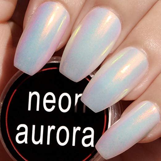 Iridescent Nail Powder Blue: PrettyDiva Mermaid Chrome Nail Powder