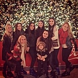 Sisters Kyle Richards and Kim Richards took their daughters ice skating in LA. Source: Instagram user kylerichards18