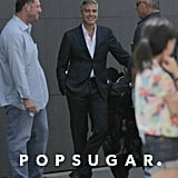 George Clooney wore a sexy suit.
