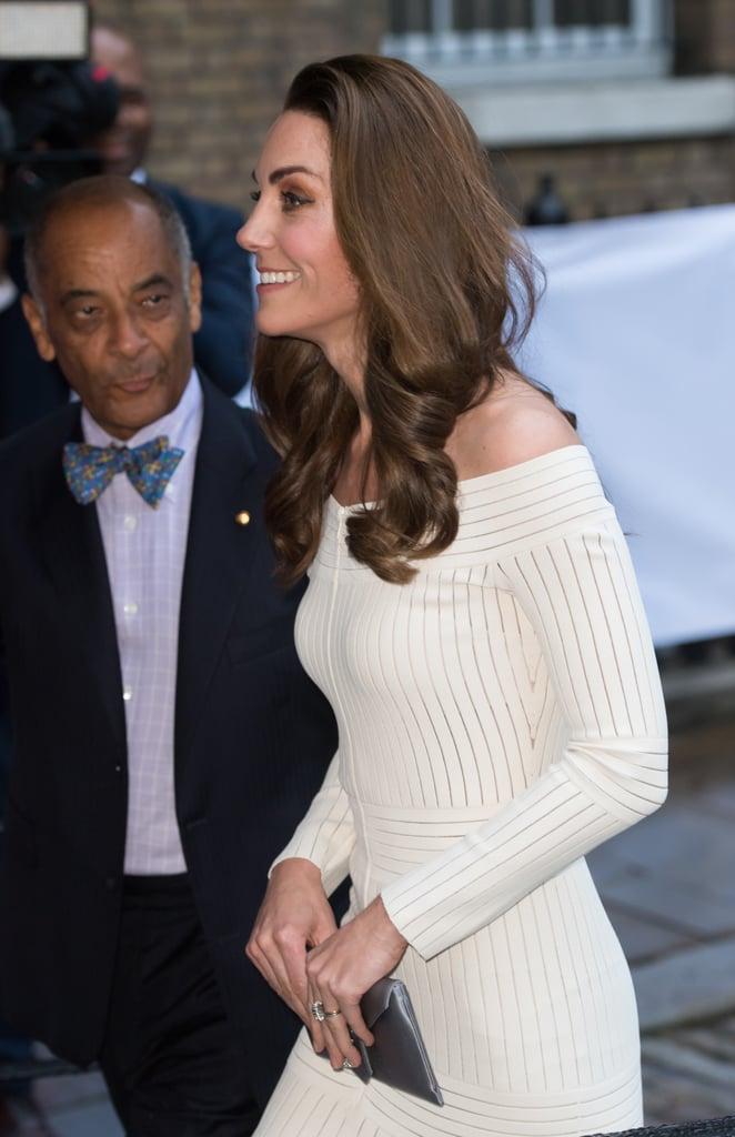 Kate Middleton White Off the Shoulder Dress June 2019