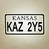 Kansas License Plate Sticker