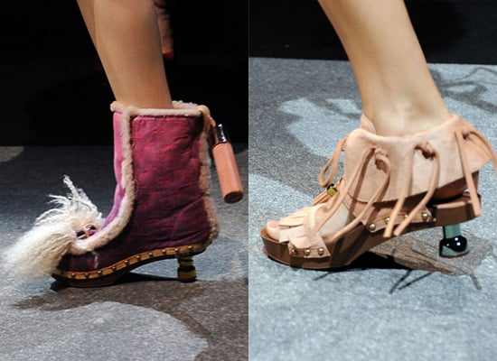 Photos of Kitten Heel Louis Vuitton Shoes at Paris Fashion Week Spring 2010