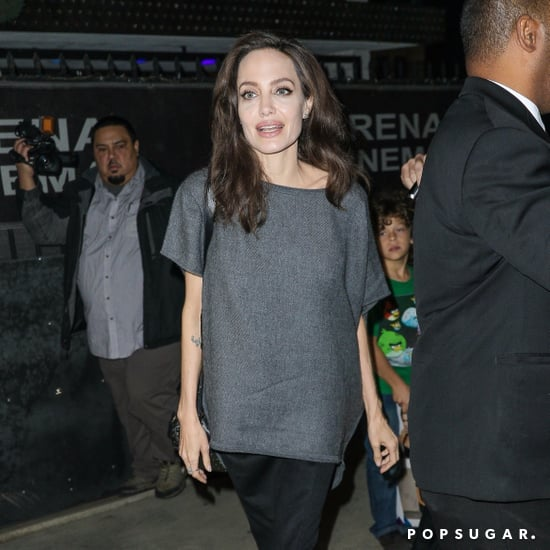 Angelina Jolie Wearing Black Booties