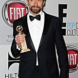 Hugh Jackman showed off his award.