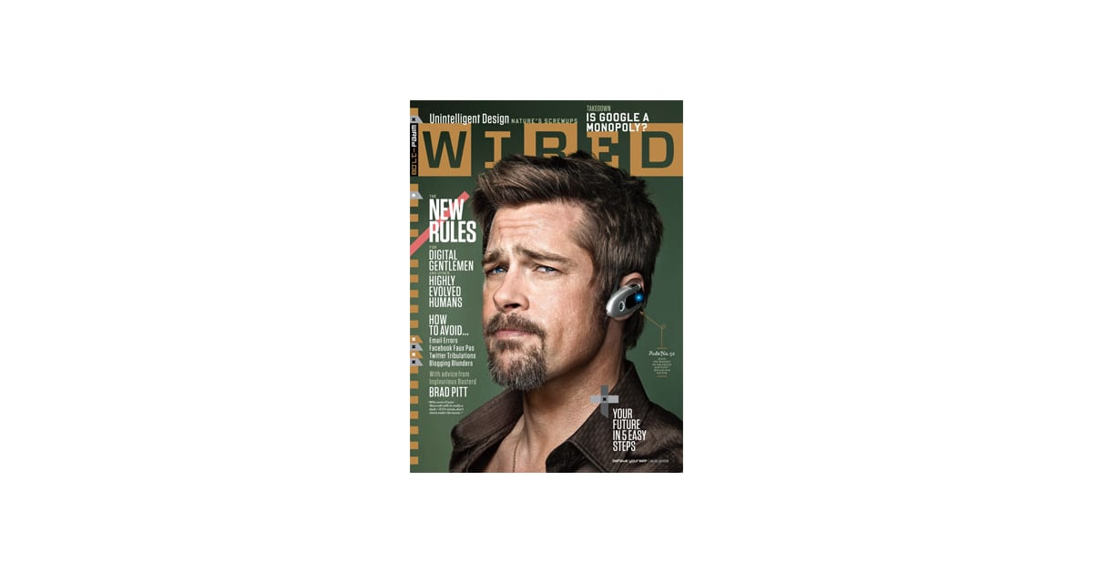 Photos and Quotes from Brad Pitt in Wired Magazine; Says Don\'t Take ...