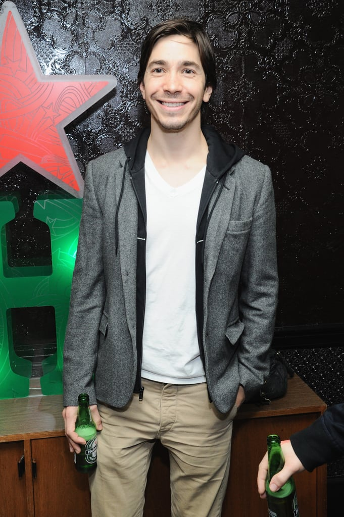 Justin Long celebrated with a Heineken at the afterparty for Single Shot.