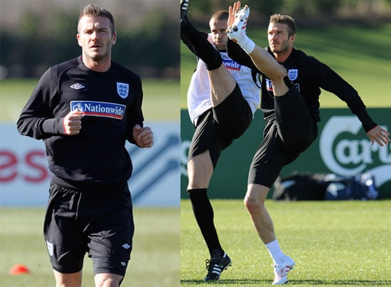 Photos of David Beckham Practicing With AC Milan Before Their Match Against Egypt in London