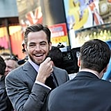 Chris Pine laughed while mingling with fans at the UK premiere of Star Trek Into Darkness.