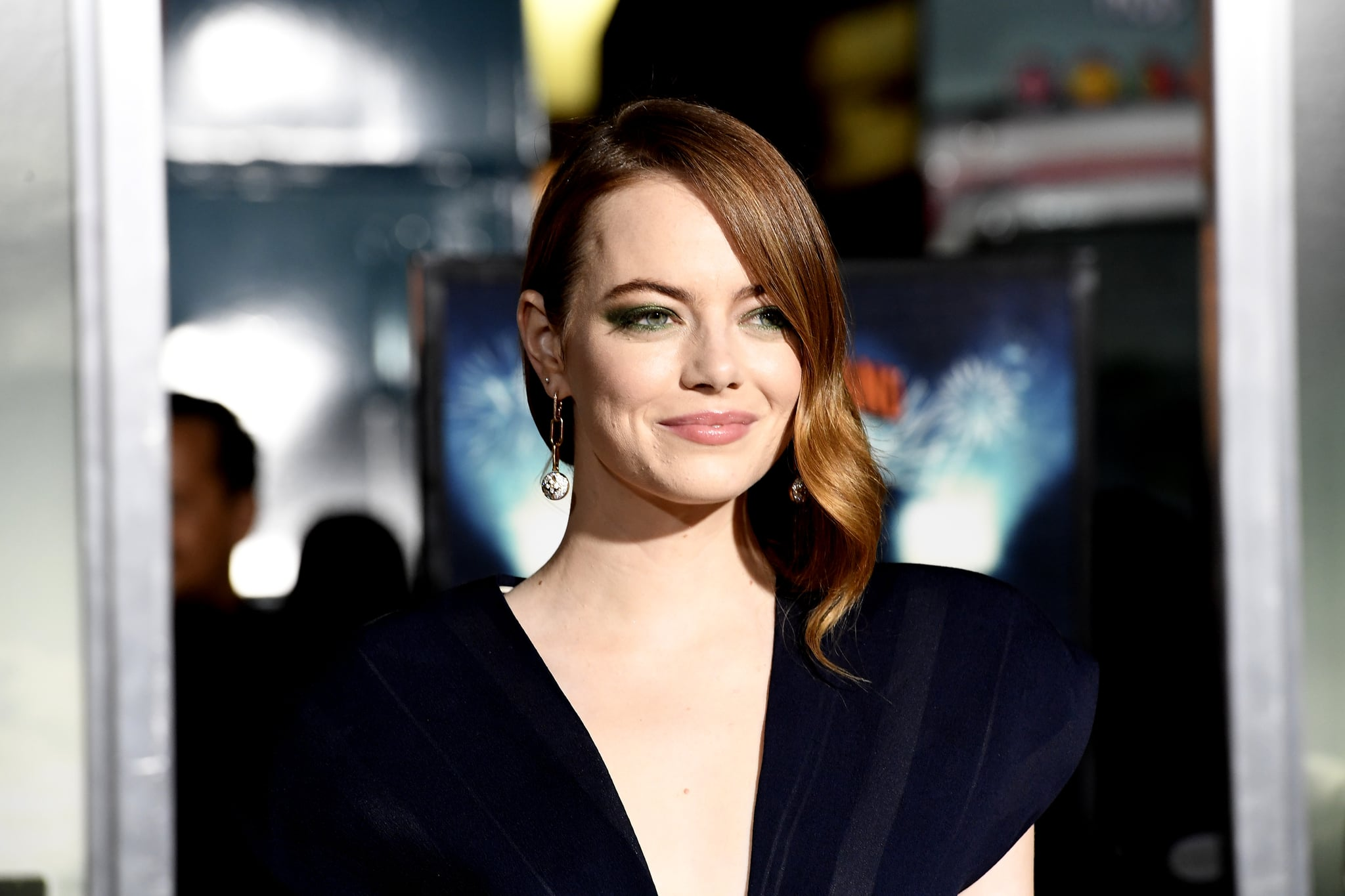 WESTWOOD, CALIFORNIA - OCTOBER 10: Emma Stone attends the Premiere Of Sony Pictures'