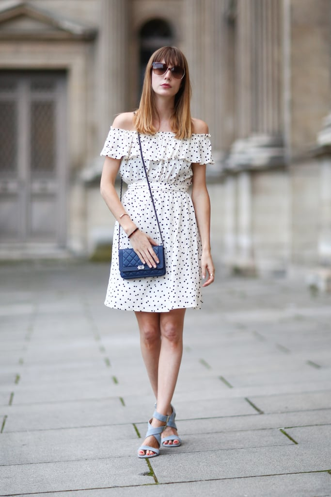 This season's quintessential dress is off-the-shoulder and all-occasion appropriate.