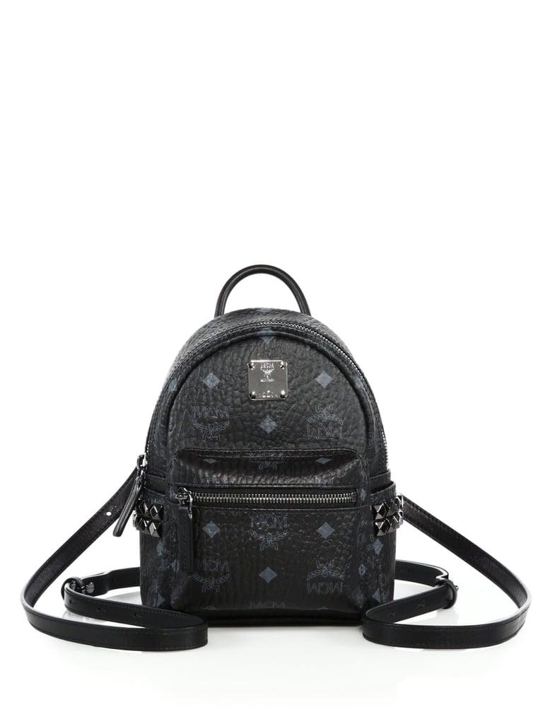 2656186c0db7 MCM Mini Studded Canvas Backpack