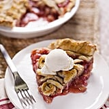 Rhubarb, Strawberry, and Almond Pie