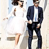 Keira Knightley Wore a Tulle Rodarte Dress and Chanel Jacket as a Bride