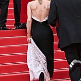 Vanessa Paradis Lifted Her Chanel Lace Up the Steps