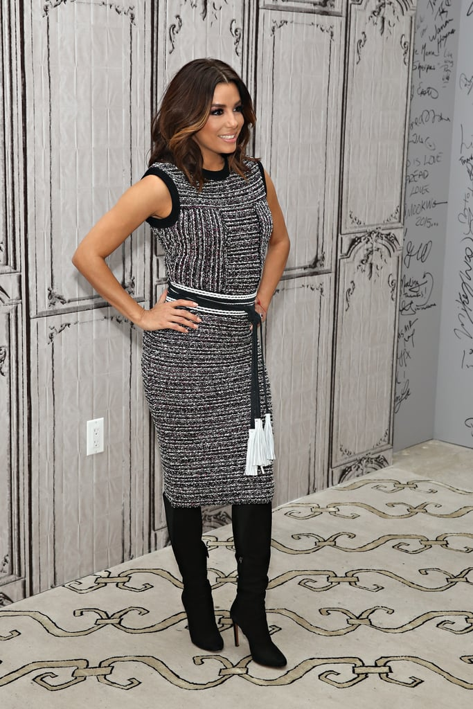 Eva Longoria In A Dress And Over The Knee Boots Popsugar