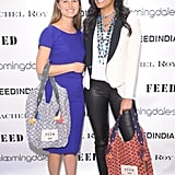 Lauren Bush Lauren and Rachel Roy at the debut of their FEED India Collaboration in New York.