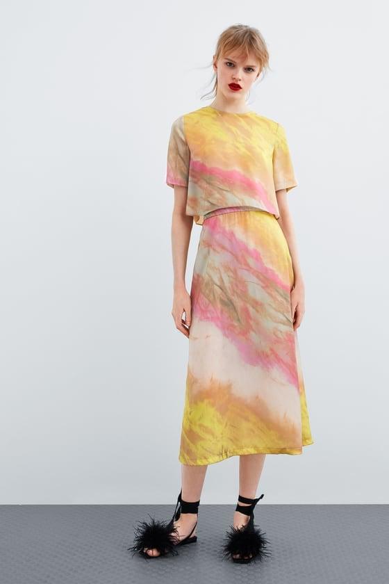 d70cc3c1c104 Zara Tie Dye Set | Flattering Spring Trends 2019 | POPSUGAR Fashion ...