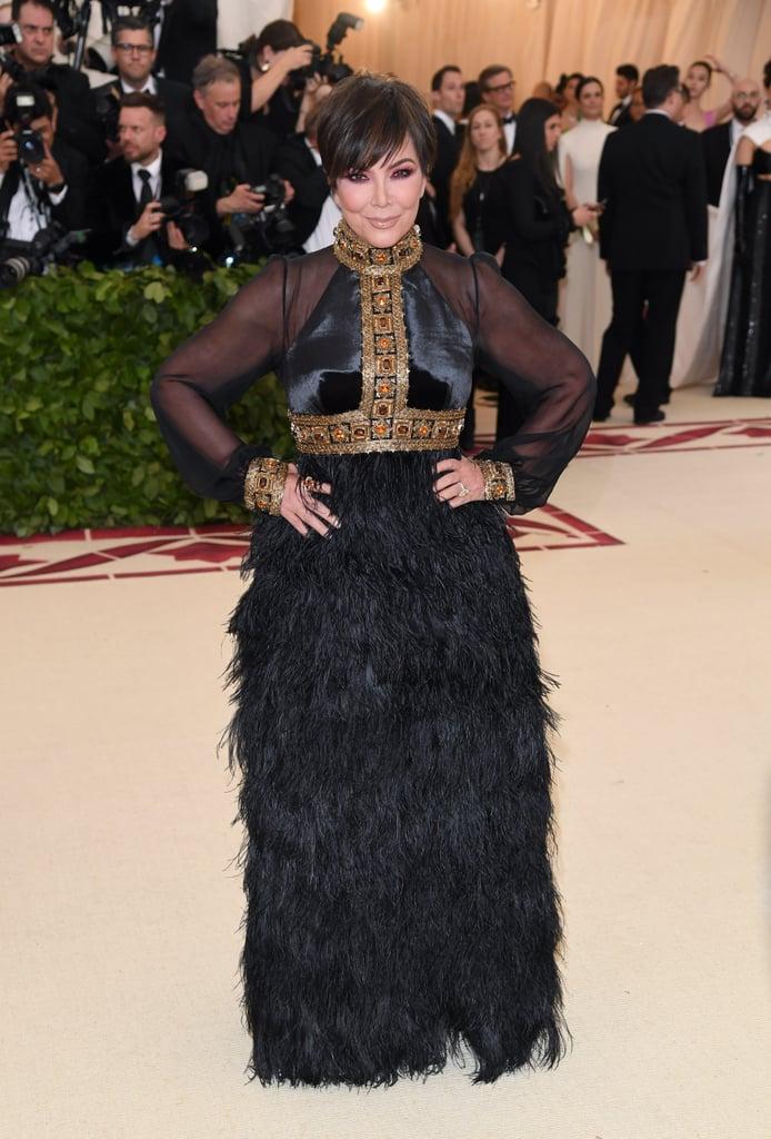 Kris Jenner Wore an Embellished Black Tommy Hilfiger Gown ...