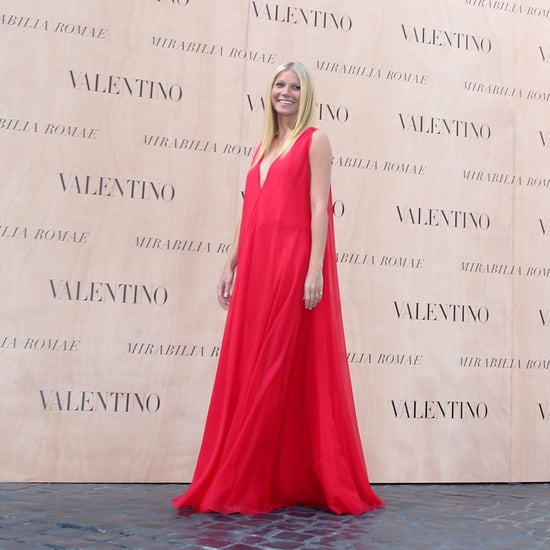 Gwyneth Paltrow at the Valentino Couture Show