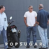 George Clooney hung out with the crew.