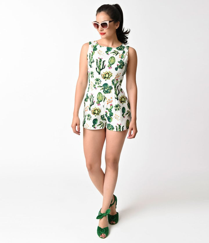 You might not be the kind of person who spends hours cutting construction paper, sewing, and hot gluing to create an intricate Halloween costume from scratch, but that doesn't mean you can't DIY your way into a cute and stylish outfit. Enter these 33 cactus-printed pieces (from ASOS to Kenzo) that'll make going as the desert plant this Halloween a piece of cake. — Additional reporting by Alessandra Foresto      Related:                                                                                                           12 Celebrity Couples You'll Want to Channel This Halloween — Trust Us!