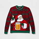 33 Degrees Men's Ugly Holiday Santa Beverage Holder