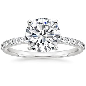 Petite Shared Prong Diamond Ring (1/4 ct. tw.) with 1.00 Carat Round Diamond