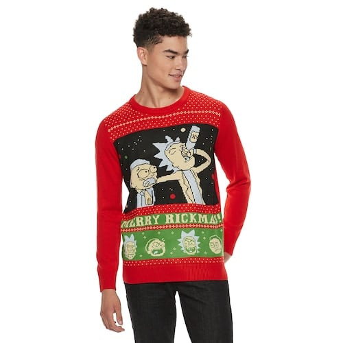 Rick And Morty Ugly Christmas Sweater.Men S Rick Morty Christmas Sweater Best Kohl S Ugly