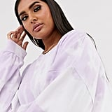 New Girl Order Curve Oversized Sweatshirt in Pastel Tie-Dye