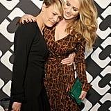 Robin Wright cuddled with her daughter, Dylan Penn.