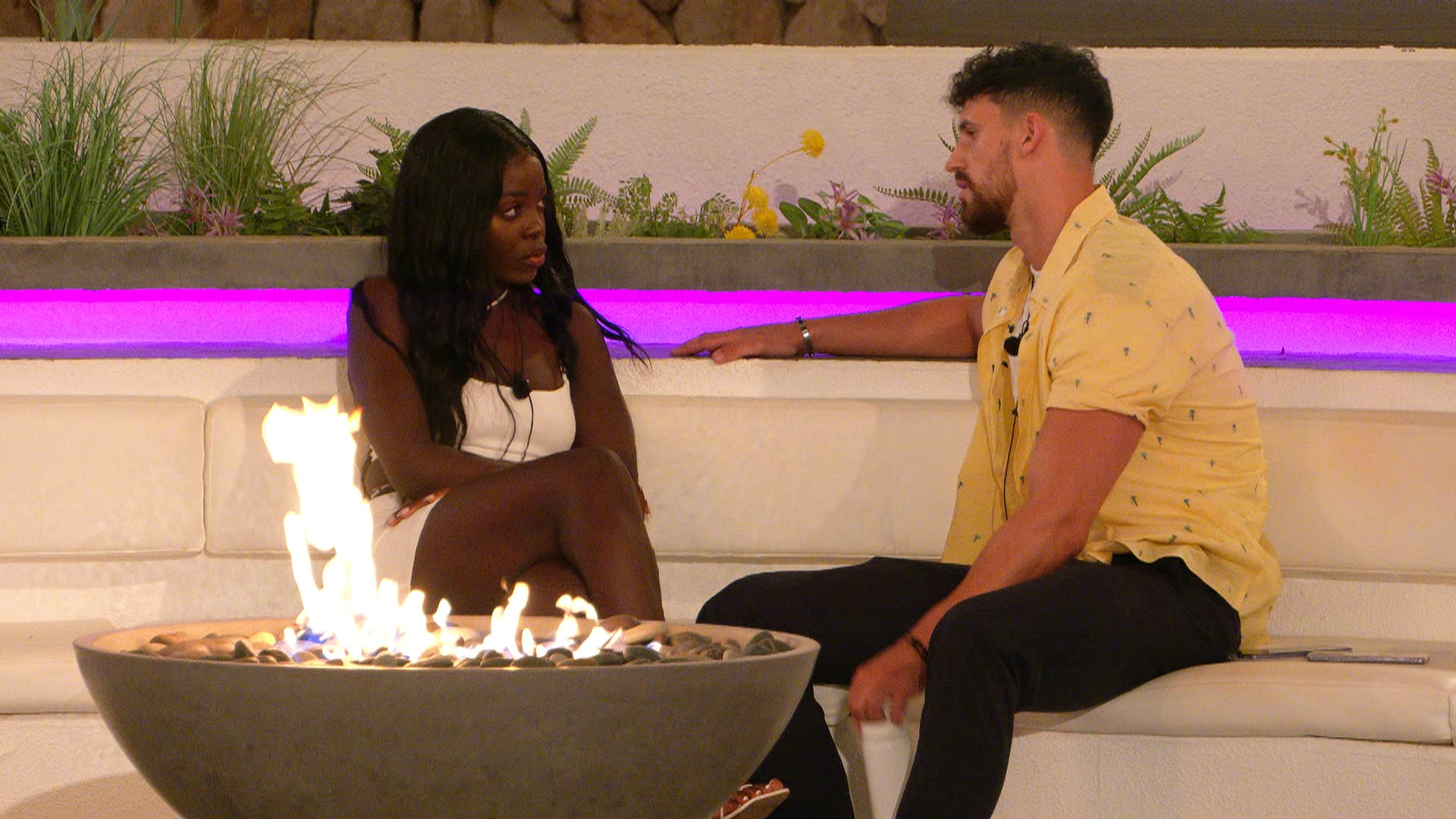 From Lifted EntertainmentLove Island: SR7: Ep34 on ITV2 and ITV Hub new episodes are available the following morning on BritBoxPictured: Kaz and Matthew.This photograph is (C) ITV Plc and can only be reproduced for editorial purposes directly in connection with the programme or event mentioned above, or ITV plc. Once made available by ITV plc Picture Desk, this photograph can be reproduced once only up until the transmission [TX] date and no reproduction fee will be charged. Any subsequent usage may incur a fee. This photograph must not be manipulated [excluding basic cropping] in a manner which alters the visual appearance of the person photographed deemed detrimental or inappropriate by ITV plc Picture Desk.  This photograph must not be syndicated to any other company, publication or website, or permanently archived, without the express written permission of ITV Picture Desk. Full Terms and conditions are available on the website www.itv.com/presscentre/itvpictures/termsFor further information please contact:james.hilder@itv.com / 0207 157 3052