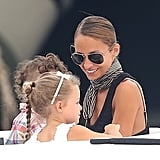 Nicole Richie smiled with her kids, Harlow and Sparrow, while on vacation in Saint-Tropez.