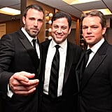Ben Affleck and Jimmy Kimmel were on hand in March 2011 to honor Matt  Damon at the 24th American Cinematheque Gala held in LA.