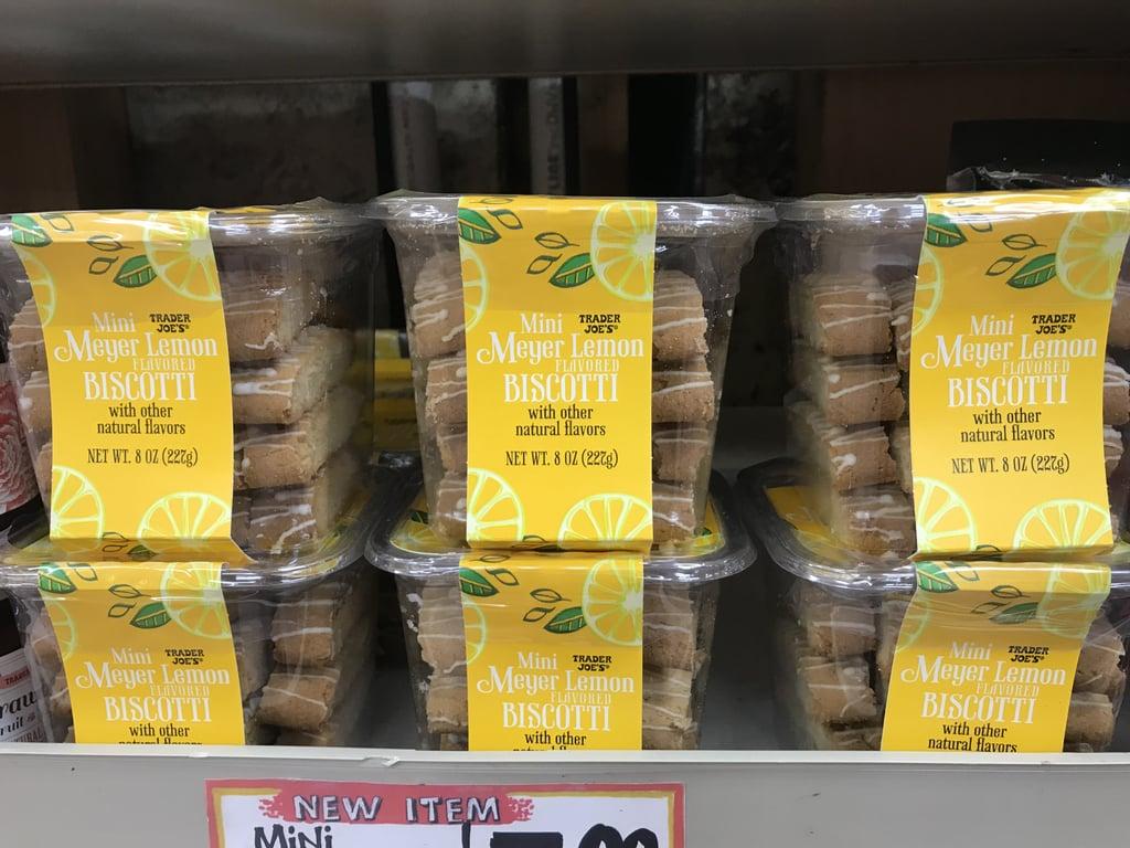 Trader Joe's Mini Meyer Lemon Flavored Biscotti ($4)