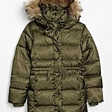 Part parka, part puffer, this faux-fur-hooded Kids ColdControl Ultra Max Down Puffer ($148) is as warm as at is stylish.