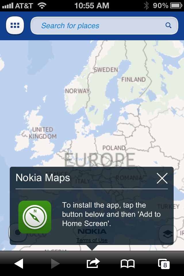 Make a Nokia Maps Shortcut